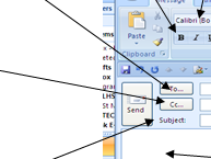 Labelling e-mail components
