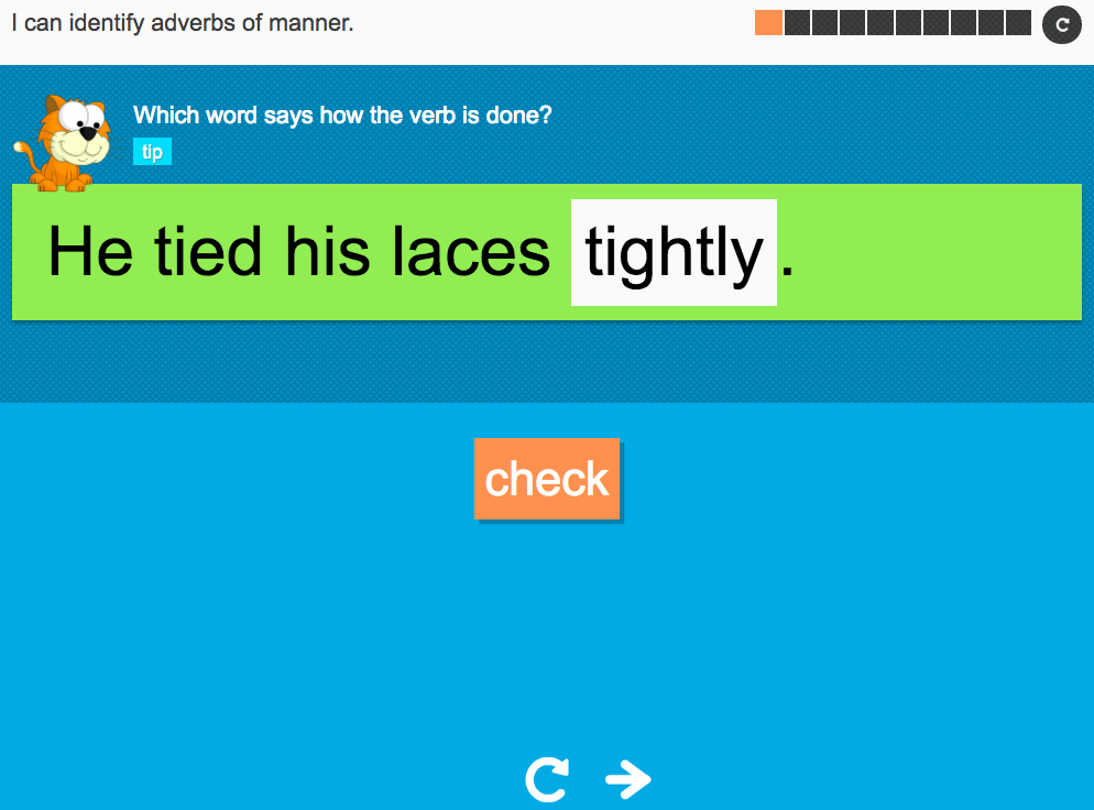 I can identify adverbs of manner - Interactive Activity - Year 3 Spag