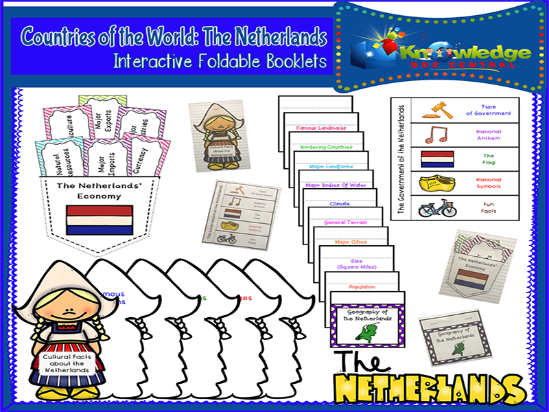 Countries of the World: The Netherlands Interactive Foldable Booklets