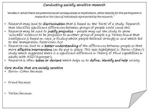 OCR A Level Psychology Debates KO