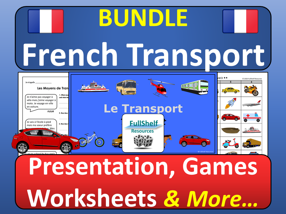 French Transport and Vehicles BUNDLE