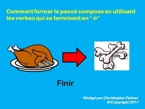 French: General lesson regular '-ir' verbs in the perfect tense