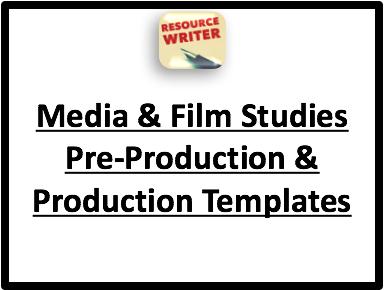 Media & Film Studies Production Templates & Exemplars