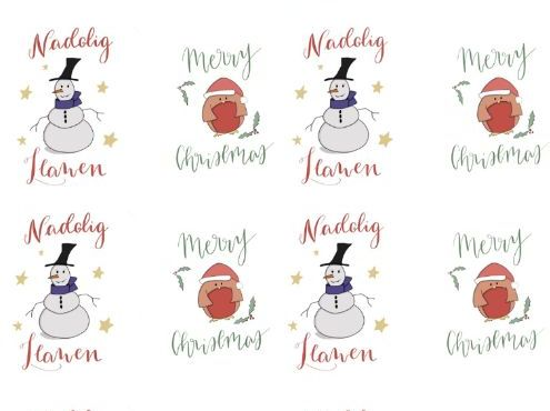 Welsh Christmas Print out / Labels / Decorations