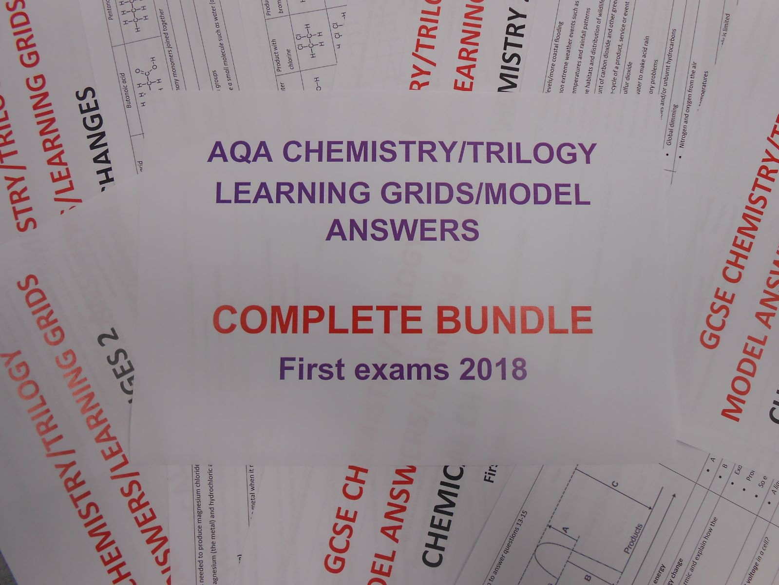 AQA 2018 GCSE Chemistry/Trilogy Learning Grids/Model Answers
