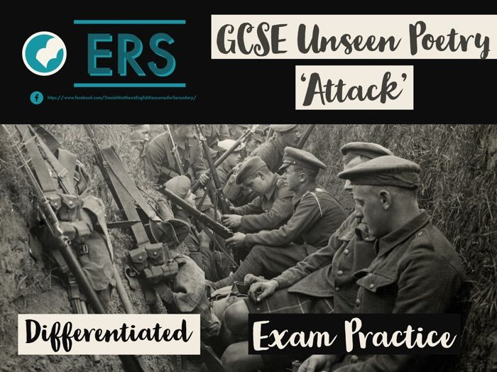 GCSE Unseen Poetry Lesson - 'Attack' and 'Suicide in the Trenches'