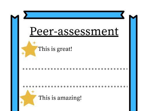 Peer-assessment sheet