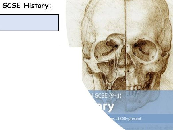 GCSE History 9-1 Medicine  Section A Lessons
