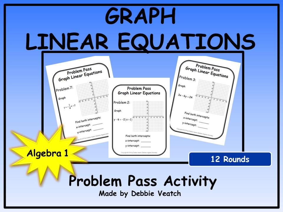 Graph Linear Equations Problem Pass Activity