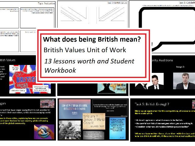 British Values unit of work