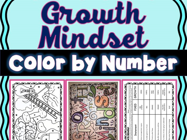 Growth Mindset Color by Number - Fixed or Growth Mindset?