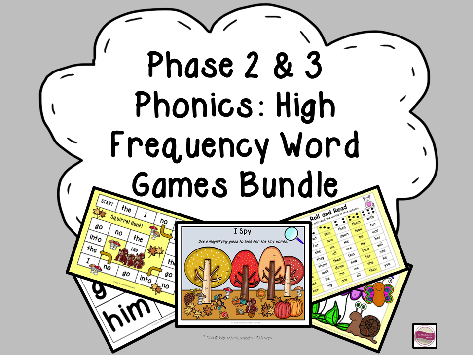 Phase 2 & 3 High Frequency Word Games/Activities