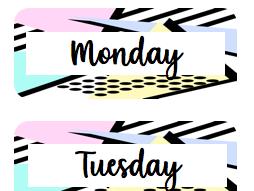 Weekday Folder Labels