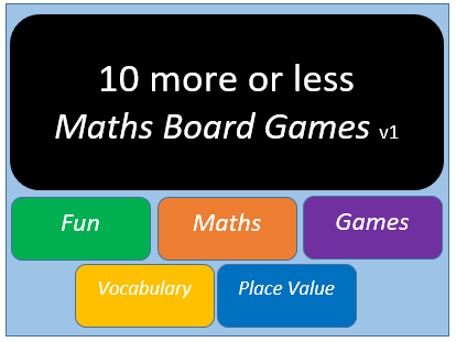 10 More or Less (Maths Board Game) v1