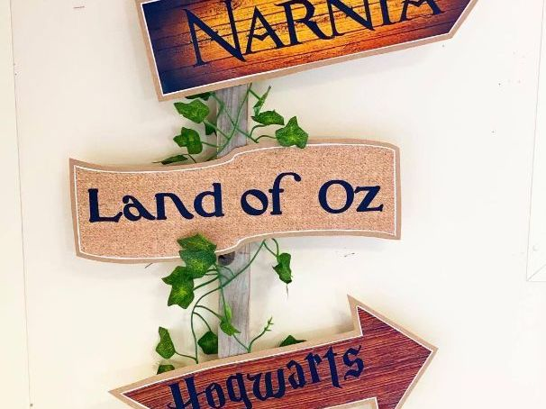 Woodland Book Sign Post