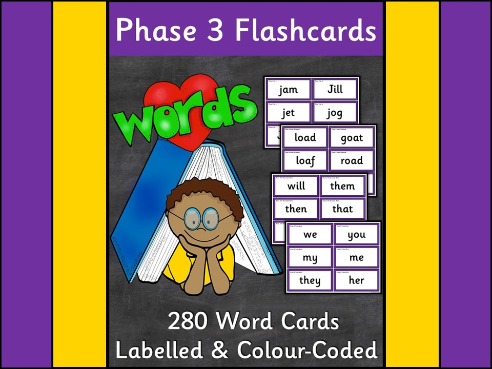 Phonics: Phase 3 Word Flashcards