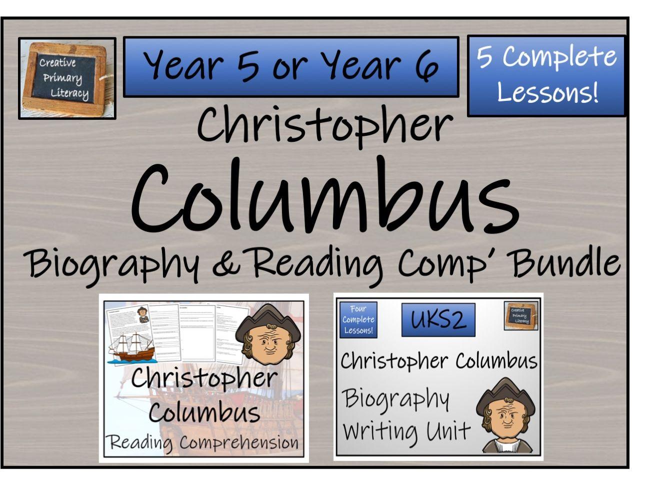 UKS2 History - Christopher Columbus Reading Comprehension & Biography Bundle