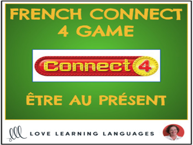 French Connect 4 Game - ÊTRE - Present Tense