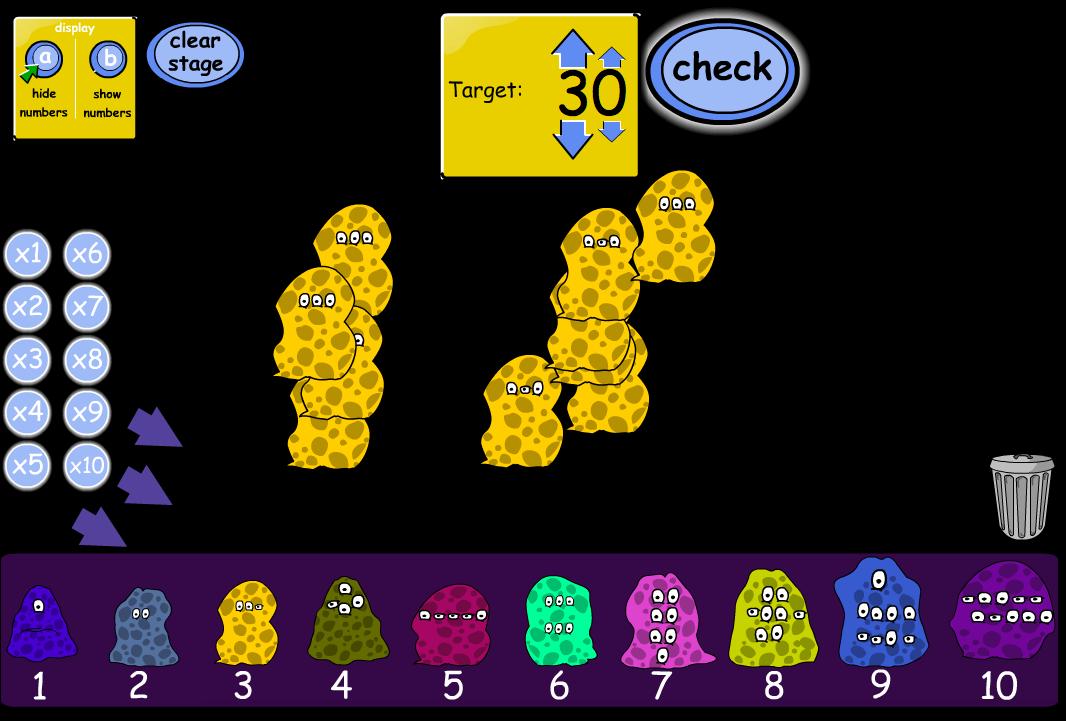 Multiplying Aliens - Interactive Game - KS1 Number