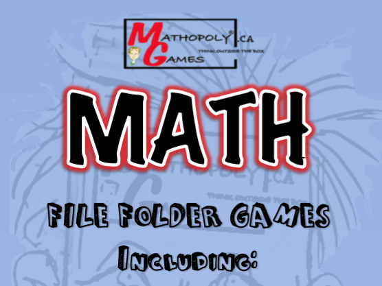 Math File Folder Games - Six Awesome Games to Solidify Math Skills