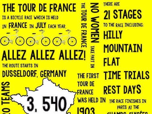 Tour de France Poster Infographic