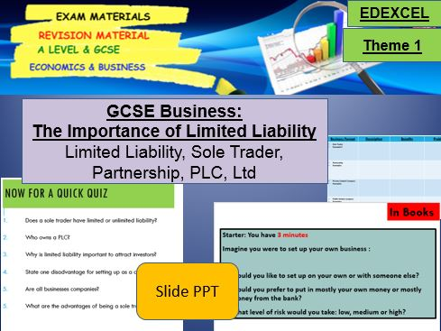 The Importance of Limited Liability: GCSE Business