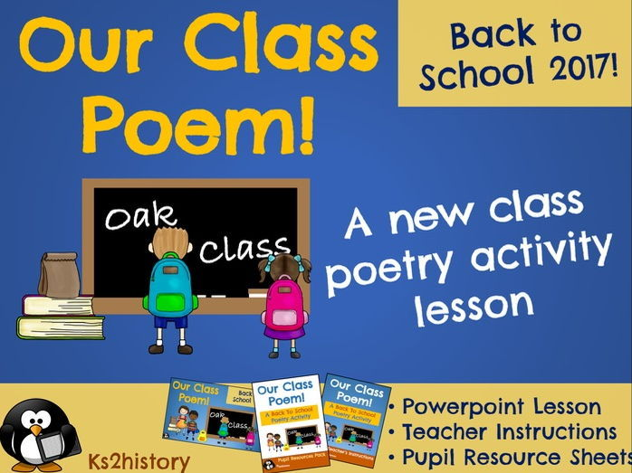 Our Class Poem - Back to School