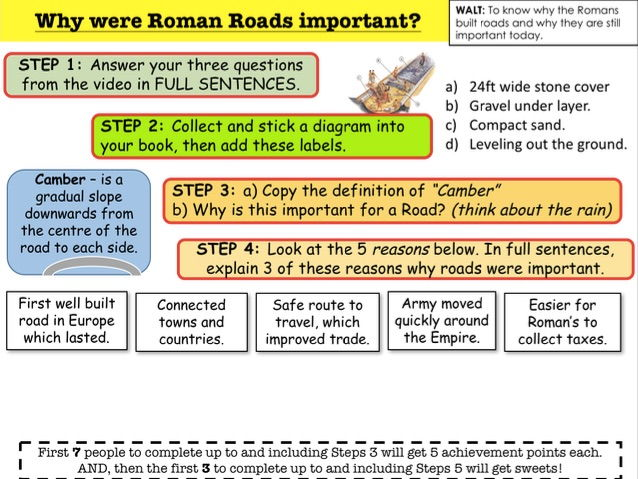 Romans Why were the Roman Roads important?