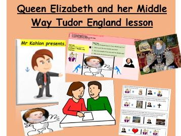 Queen Elizabeth and her Middle Way-Tudor England lesson