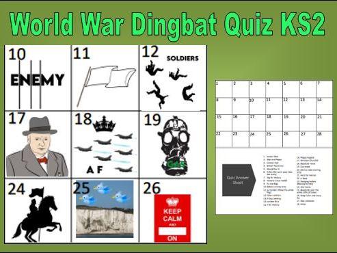 World War Dingbats Quiz KS2