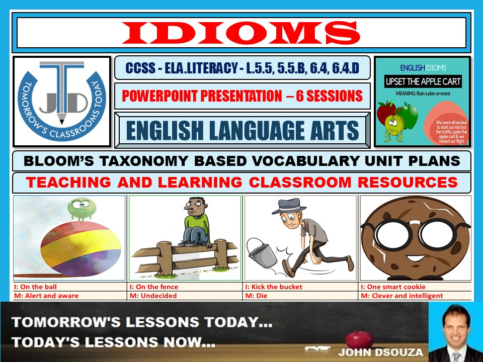 IDIOMS: POWER-POINT PRESENTATION - 6 SESSIONS
