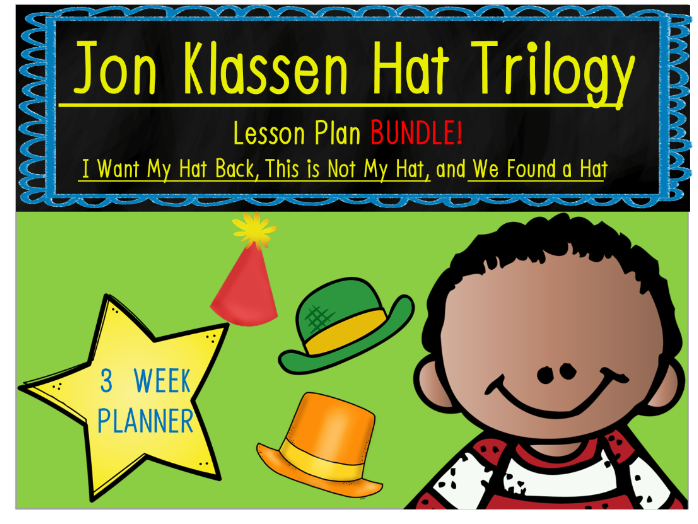 Jon Klassen Hat Trilogy 3 Week Lesson Plan Bundle