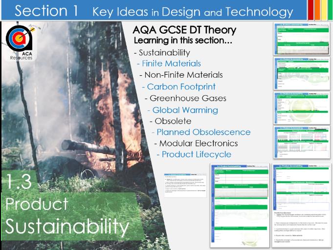 AQA GCSE DT 1.3 Sustainability