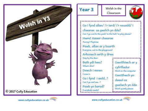 Incidental Welsh Booklet for the Y3 Classroom