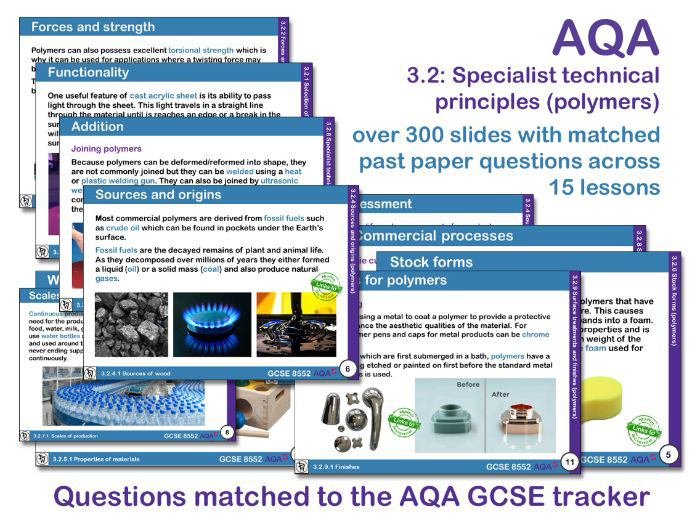 AQA GCSE Design and Technology 3.2: Specialist technical principles (Polymers)