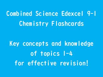 GCSE Chemistry Edexel 9-1  Flashcards