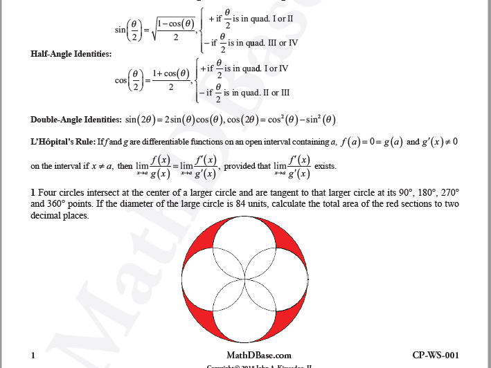 Challenge Problems Worksheets 1