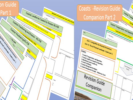Coastal Landscapes GCSE 9-1 AQA Flipped Learning Revision Guide Companions.