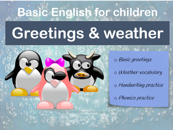 Greetings and weather lesson