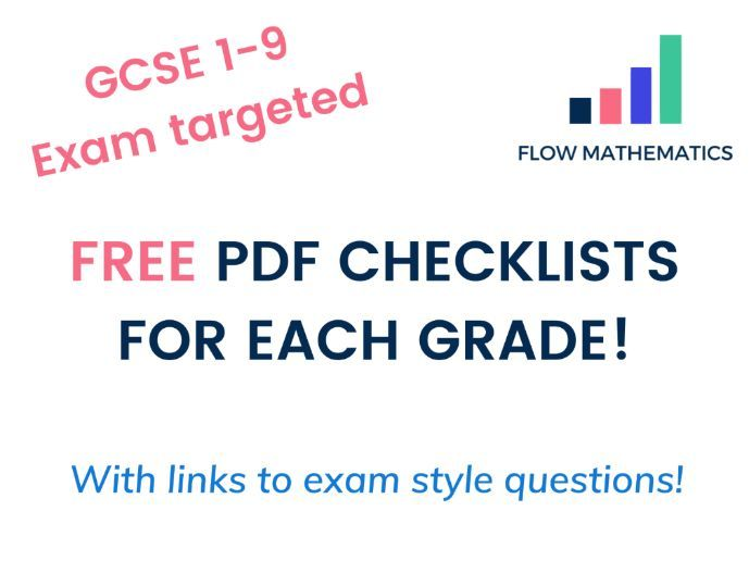Maths GCSE 1-9 Checklists + Online Study Guide