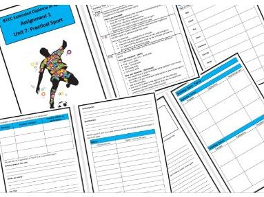 Btec Sport - Level 3 - Unit 7 Practical Sports - Assignment 1 Workbook/Template