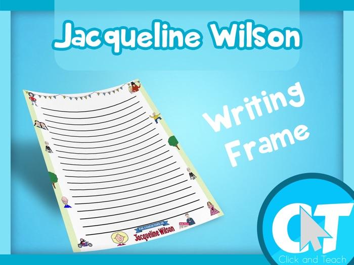 Jacqueline Wilson - Writing Frame Page Border