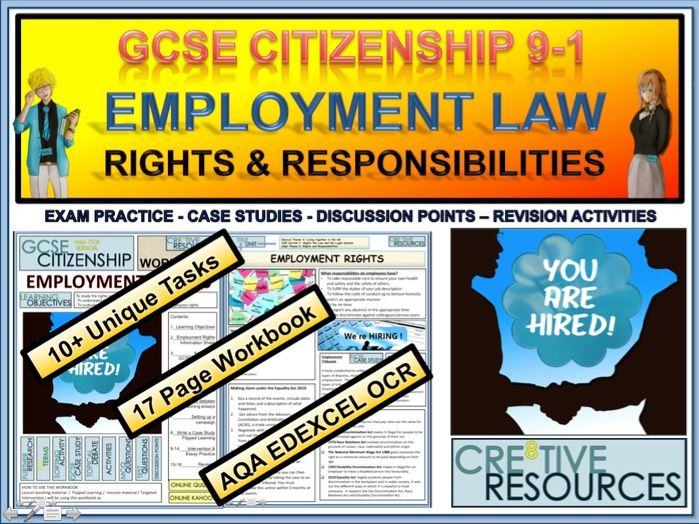 Employment Law - Rights and Responsibilities Work Booklet