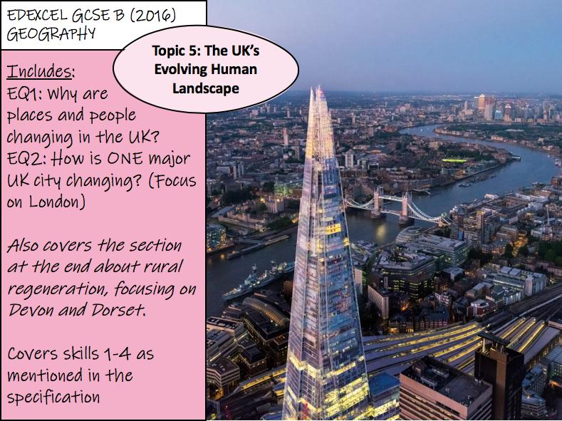 The UK's Evolving Human Landscape - Edexcel GCSE Geography B