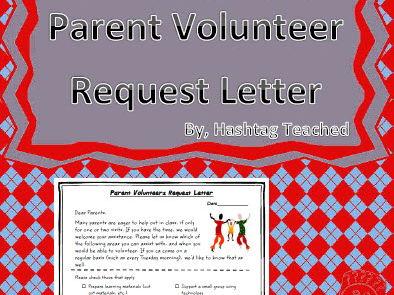 Parent Volunteers Request Letter