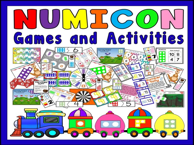NUMICON GAMES ACTIVITIES- NUMBERS TEACHING RESOURCES EYFS KS1 ADDITION MATHS