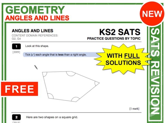 Y6 Maths SATs Revision (Angles + Lines)