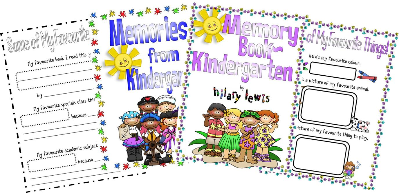 End of the Year Memory Book-Kindergarten