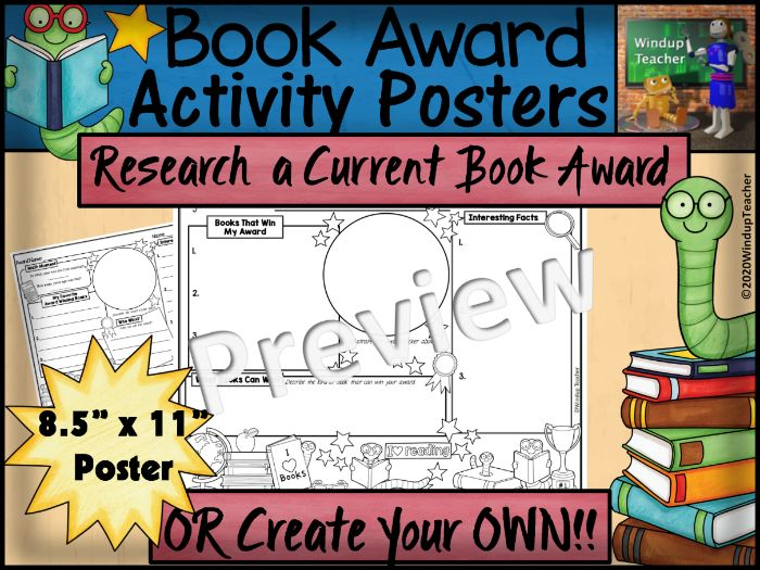 Book Award Activity Sheets | Research an Award OR Create Your Own!