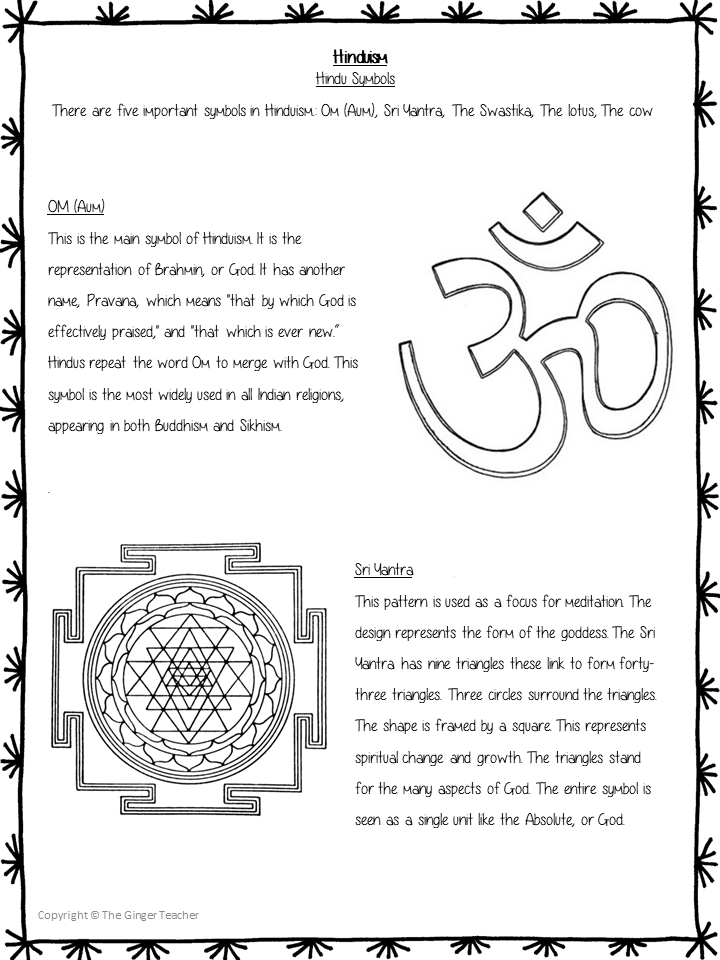 Hinduism - PowerPoint and Worksheets